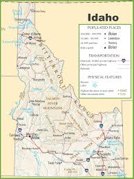 Highway Map Of Usa by Idaho Highway Map