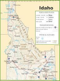 Highway Map Of Usa Idaho Highway Map
