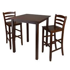 3 piece dining room set winsome trading parkland 3 piece counter height dining table set