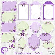 Shabby Chic Purple by Lavender Frames And Tags Clipart Wedding Frames Clipart Shabby