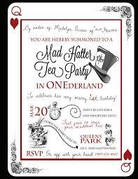 mad hatter tea invitations mad hatter tea invitations