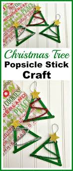 popsicle stick and jingle bell tree ornament popsicle