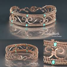 weave wire bracelet images Simple snake weave border on this bracelet this is an easy way to jpg