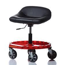 Rolling Bar Stool Padded Pneumatic Rolling Seat