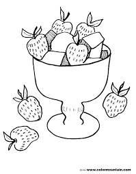 strawberry coloring sheet create a printout or activity