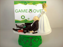 xbox cake topper wedding cake topper bald custom gamer xbox