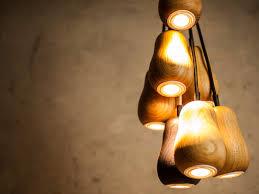 designs ideas unique modern tulip wood pendant light 15