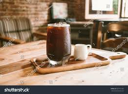 americano clouse fresh ice coffee cold americano stock photo 687715189
