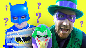 halloween costumes the riddler batman vs the riddler superheroes in real life with joker play doh