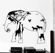 Home Interior Lion Picture Wall Decal Elephant Africa Zebra Lion Rhino Savanna Home Interior
