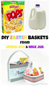 vikalpah diy easter baskets from cereal box u0026 milk jug