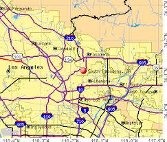 pasadena zip code map south pasadena california ca 91030 profile population maps