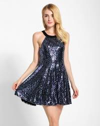 new years club dresses fashion o neck glitter sequins embellished a line dress