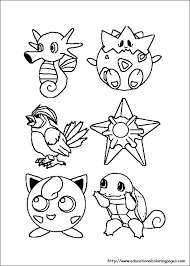 coloring pages kids pokemon coloring pages