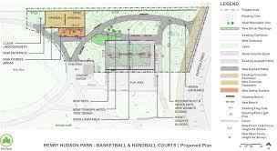 Basketball Court Floor Plan Henry Hudson Park Basketball And Handball Courts Reconstruction