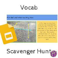 vocabulary scavenger hunt teacher tech