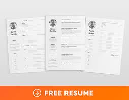 Adobe Illustrator Resume Template Free Clean U0026 Minimal Resume Template On Behance