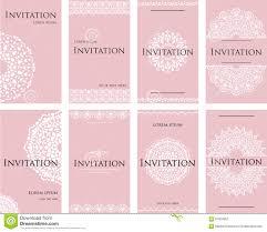 lettre pour mariage un ensemble d invitations pour une célébration de mariage
