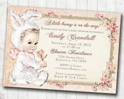 vintage baby shower invitations easter baby shower invitation
