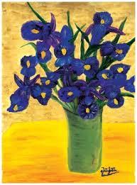 imagenes con flores azules dia de la maestra lirio la flor en el corazón no se marchitará