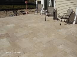 Travertine Patio Travertine French Pattern Patio Traditional With Deck Pavers