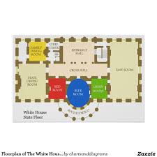 floorplan of the white house state floor diagram poster cf ae af