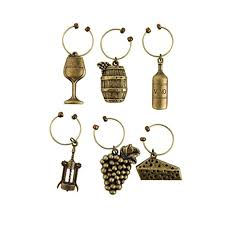 grapevine vineyard wine charms by twine set of 6