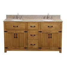 Art Deco Bathroom Sink Deco 60 Inch Double Sink Bathroom Vanity With Golden Beige Granite Top
