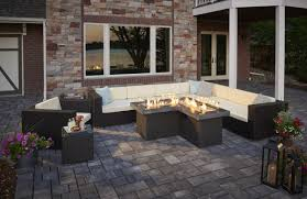 Minneapolis Patio Furniture by Pointe Fire Pit Table
