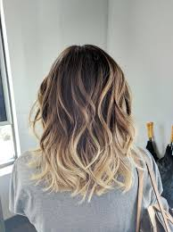 medium length hair with ombre highlights trendy hair highlights ombre balayage color melt blonde