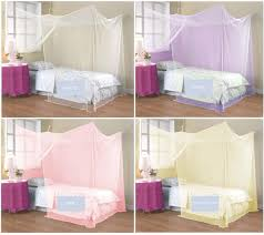 Boys Bed Canopy 4 Corner Poster Student Family Use Canopy Bed Mosquito Net Twin