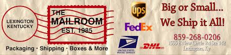 fedex richmond ky mailroom of lexington packing shipping crating notary boxes