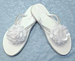 wedding flip flops bridal flip flops with bling ideal weddings
