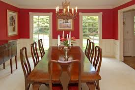 White Painted Oak Furniture Dining Room Wide Dining Space With Long Wooden Table And Simple