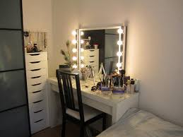 Makeup Vanity Table With Lighted Mirror Makeup Vanity Wonderful Bedroom Makeup Vanity Lights Picture