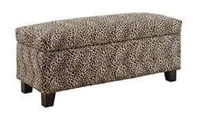 Animal Print Storage Ottoman Homelegance 471lp Leopard Print Lift Top Storage Bench
