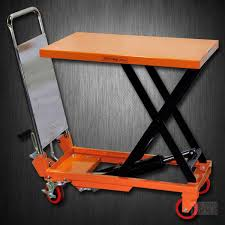 hydraulic scissor lift table cart 330 lb tf15a