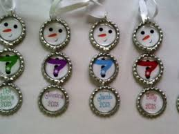 set of 5 personalized bottle cap snowman ornaments meylah