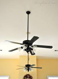 how to paint a ceiling fan ceiling fan makeover the gathered home