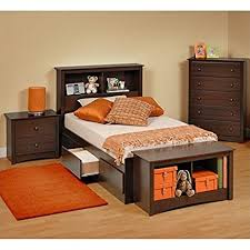 amazon com prepac fremont 4 piece twin youth bedroom set in