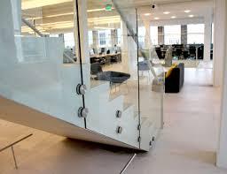 glass railing featuring fascia mounted nodes sc railing company