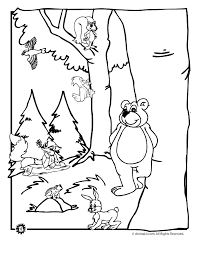 Forest Animals Coloring Page Animal Jr Forest Animals Coloring Pages