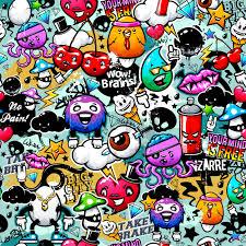 graffiti design coloured graffiti background vector premium