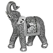 decorative silver elephant ornament co uk kitchen home