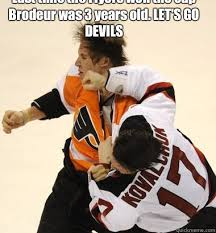 Flyers Meme - last time the flyers won the cup brodeur was 3 years old let s go