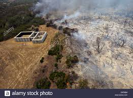 California Wildfires San Diego by Aerial View Of The Tomahawk Wildfire Burning Through The Marine