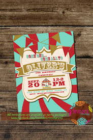 carnival birthday party invitation kids circus party