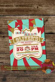 custom circus invitations carnival birthday party invitation kids circus party