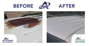 the experts at atlanta auto color removed the rust prepped and