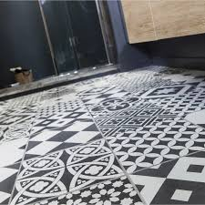 carrelage noir et blanc cuisine carrelage sol et mur noir et blanc effet ciment gatsby l 20 x l 20